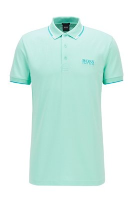 Active-stretch golf polo shirt with S.Café®, Light Green
