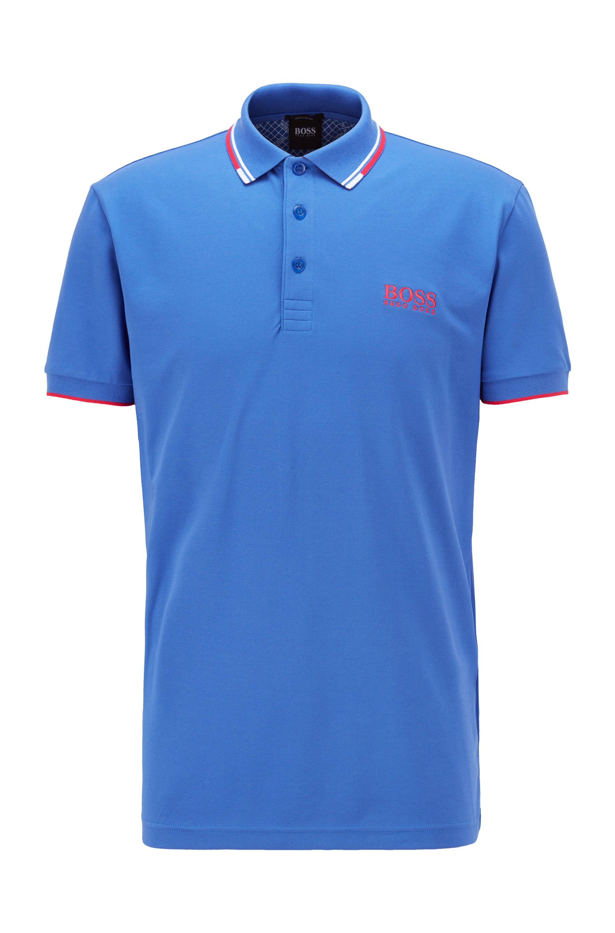 Active-stretch golf polo shirt with S.Café®, Blue