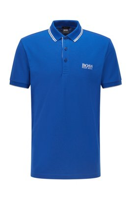 Active-stretch golf polo shirt with S.Café®, Blue