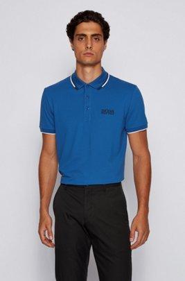 Polo de golf Active Stretch avec fibre S.Café®, bleu clair