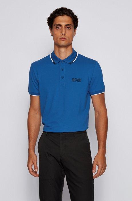 Golf-Poloshirt aus Stretch-Baumwolle mit S.Café®, Hellblau