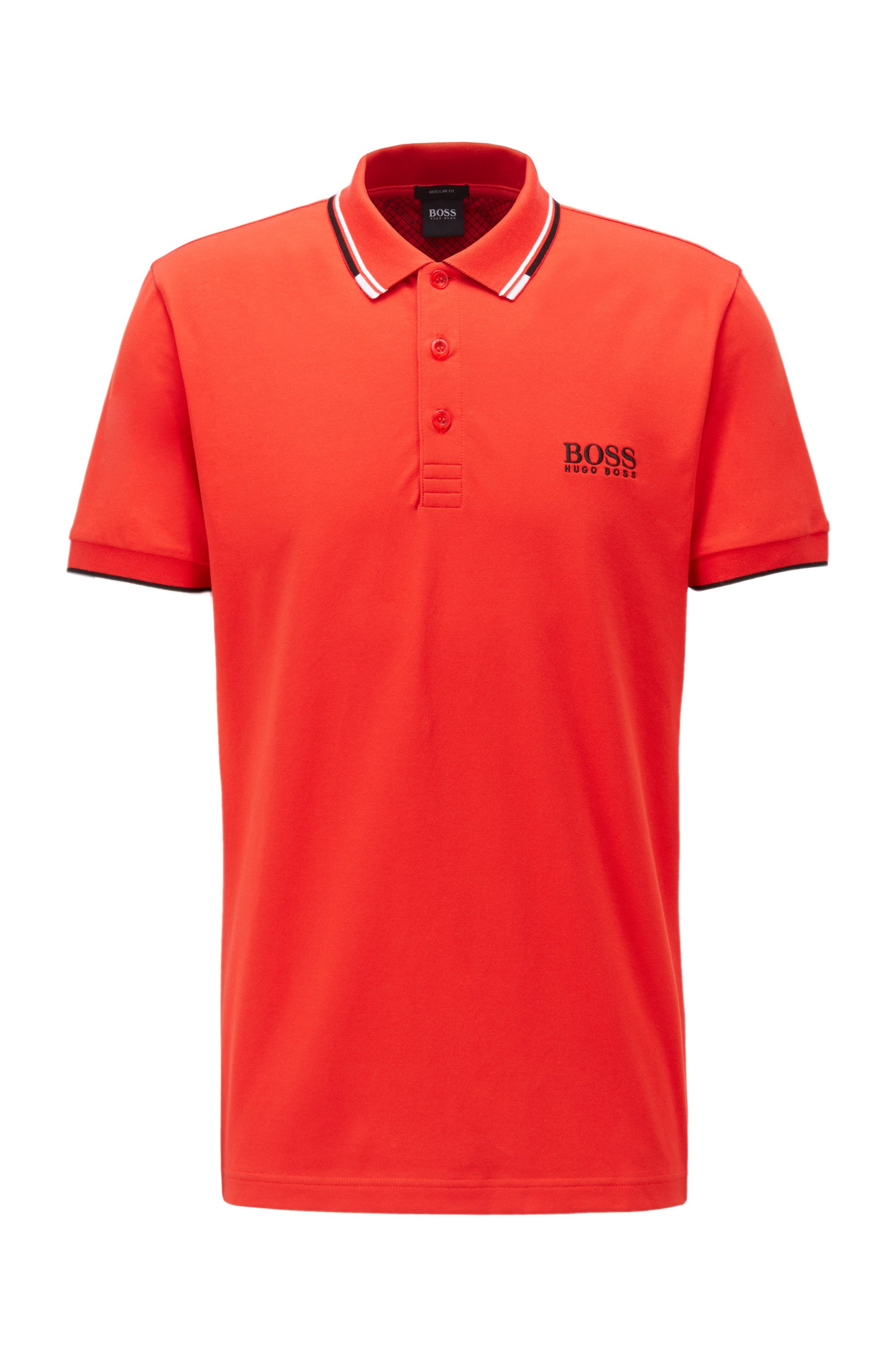 Active-stretch golf polo shirt with S.Café®, Red