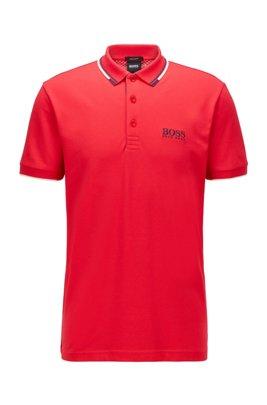 Polo da golf in tessuto elasticizzato attivo con S.Café®, Rosso