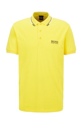 Active-stretch golf polo shirt with S.Café®, Yellow