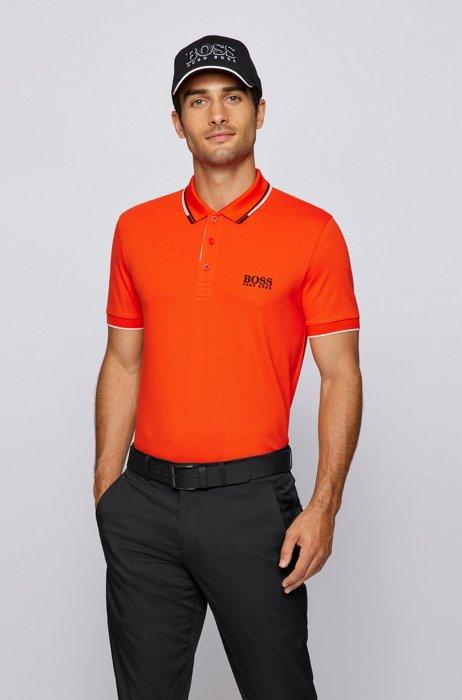 Active-stretch golf polo shirt with S.Café®, Orange
