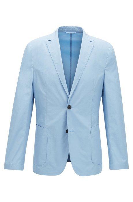 Slim-fit colbert van zuivere katoen met opgezette zakken, Lichtblauw