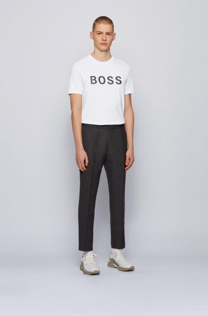 T-shirt con logo in jersey di misto cotone