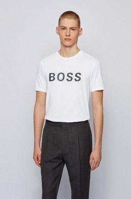 Logo T-shirt in a single-jersey cotton blend, White