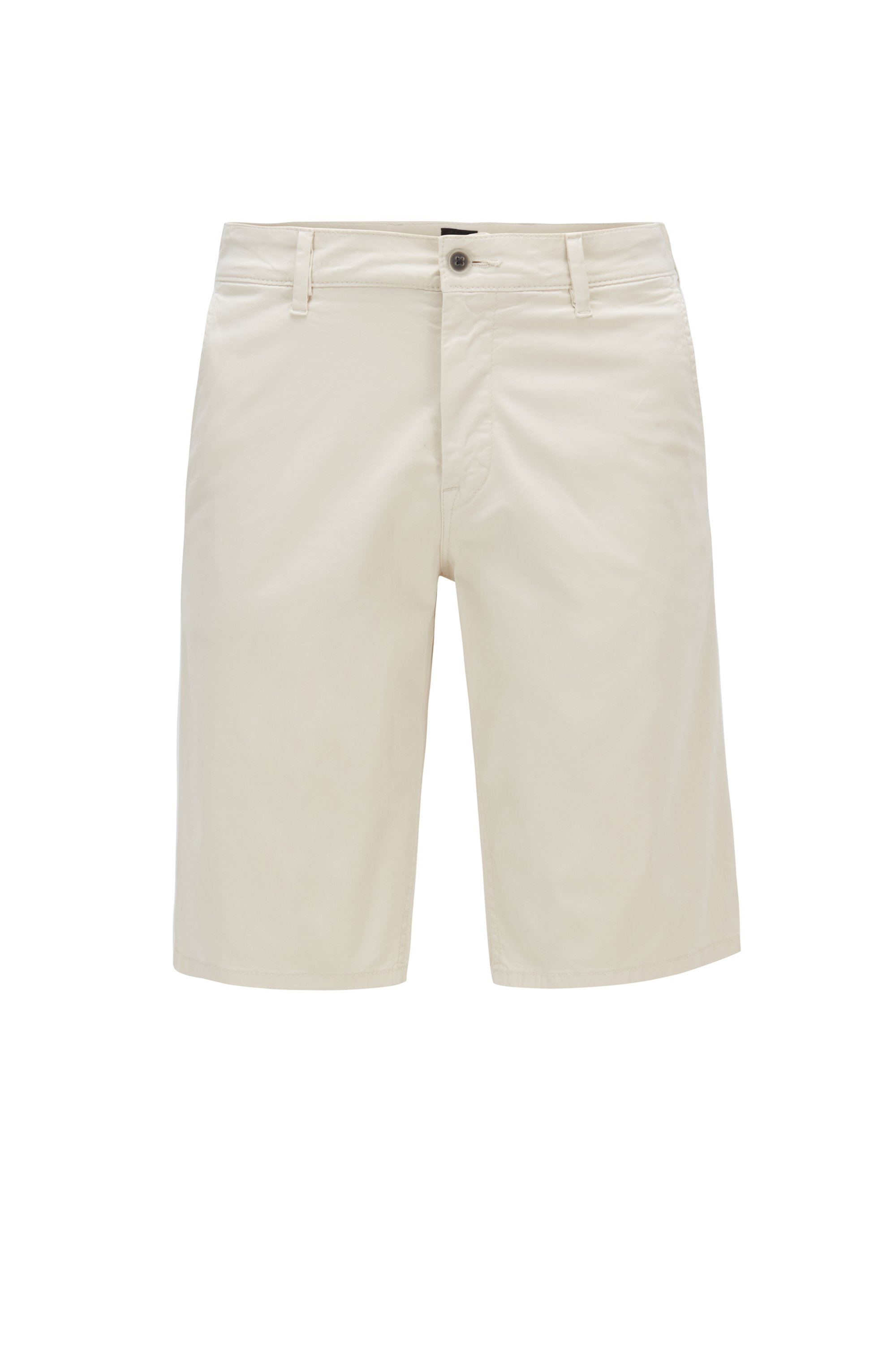 Slim-Fit Chino-Shorts aus leichter Stretch-Baumwolle, Hellbeige