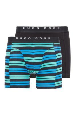 Lot de deux boxers longs avec taille logo, Assorted-Pre-Pack