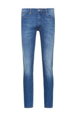 Extra slim-fit blauwe jeans van comfortabel stretchdenim, Blauw