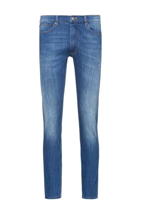 Skinny-Fit Jeans aus bequemem Stretch-Denim, Blau