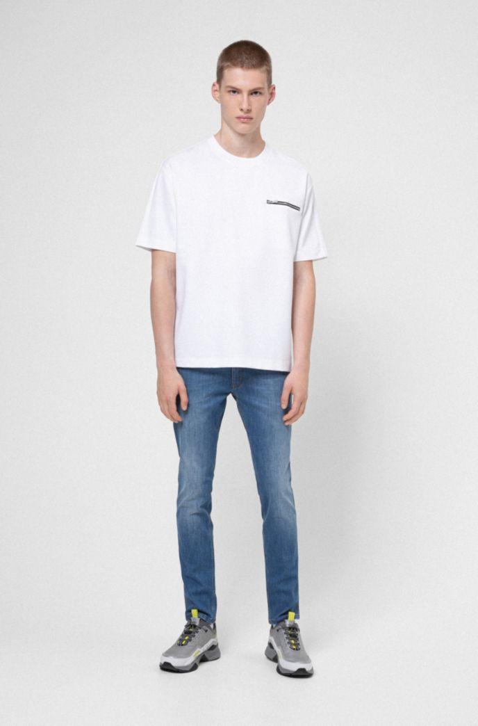 Extra-slim-fit jeans in comfort-stretch blue denim