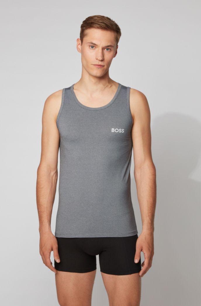 Camiseta interior sin mangas en tejido elástico con Coolmax® que absorbe la humedad