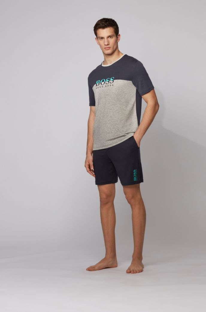 Logo pyjama T-shirt in lyocell-blend jersey