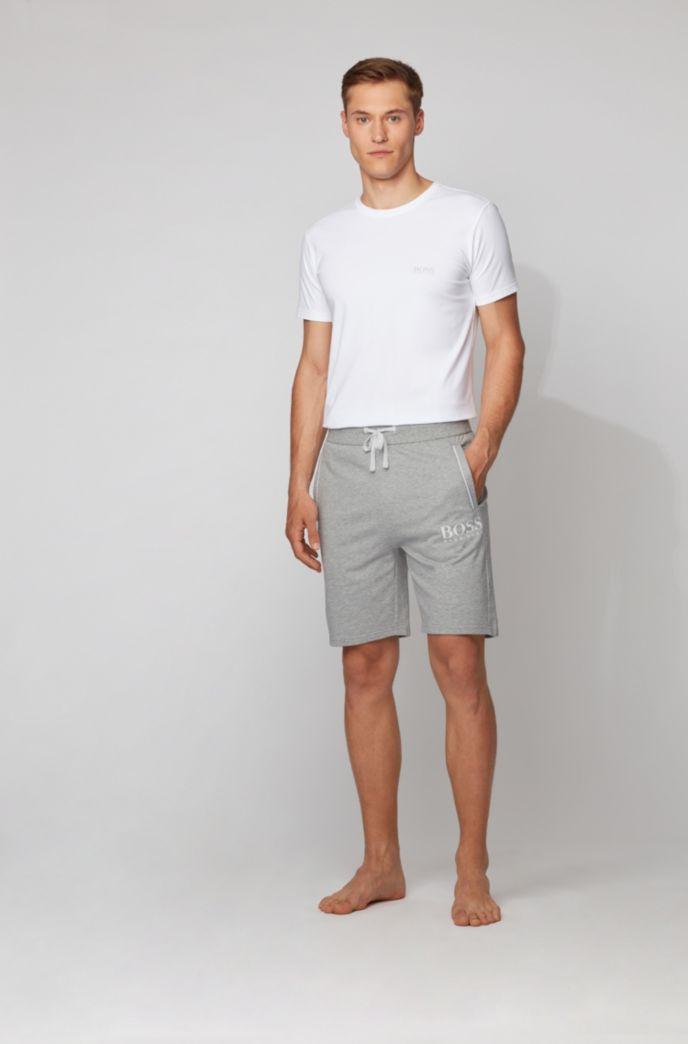 Loungewear-Shorts aus French Terry mit tonaler Paspel und Logo