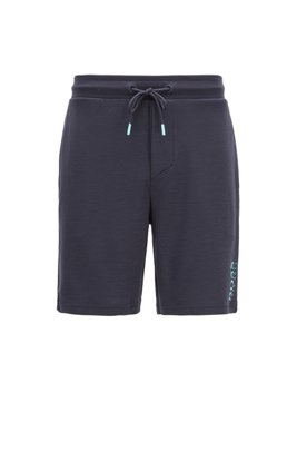 Pyjama shorts in TENCEL™ Lyocell with logo print, Light Blue