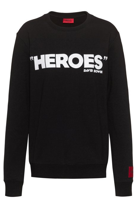 Sweatshirt aus Baumwoll-Terry mit Print aus der Kollektion, Schwarz