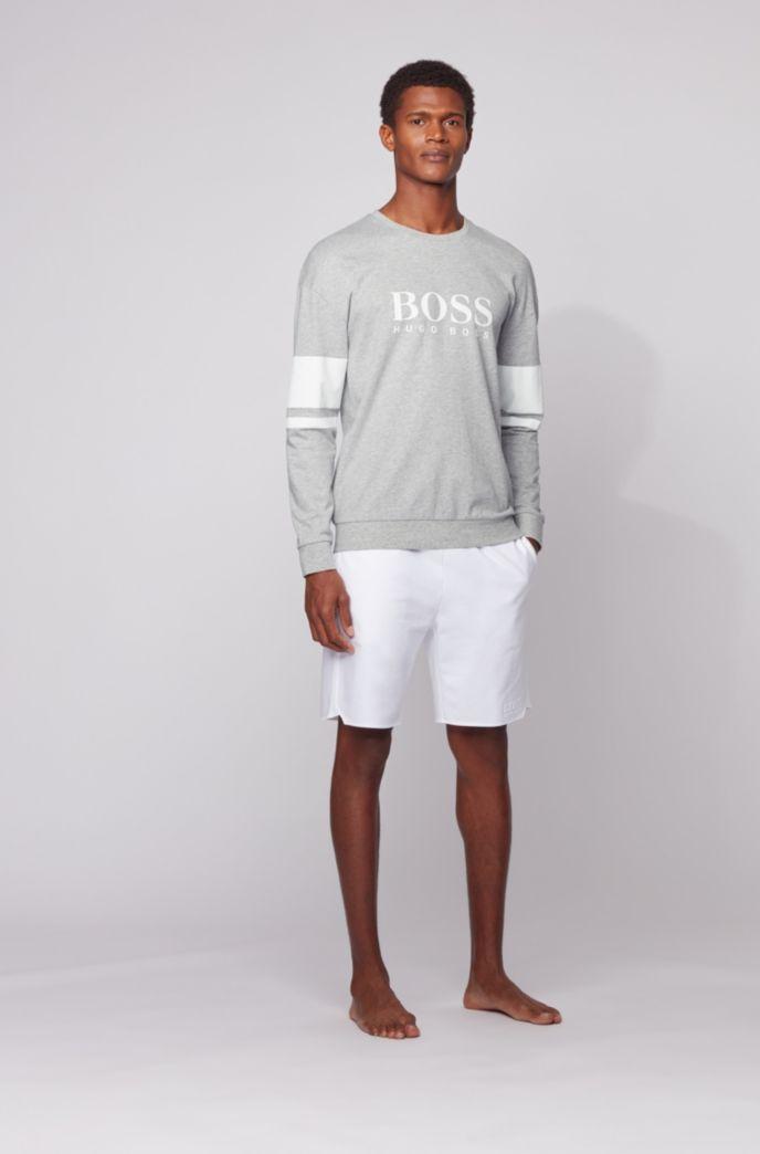 Loungewear-Sweatshirt aus French Terry mit Kontraststreifen und Logo
