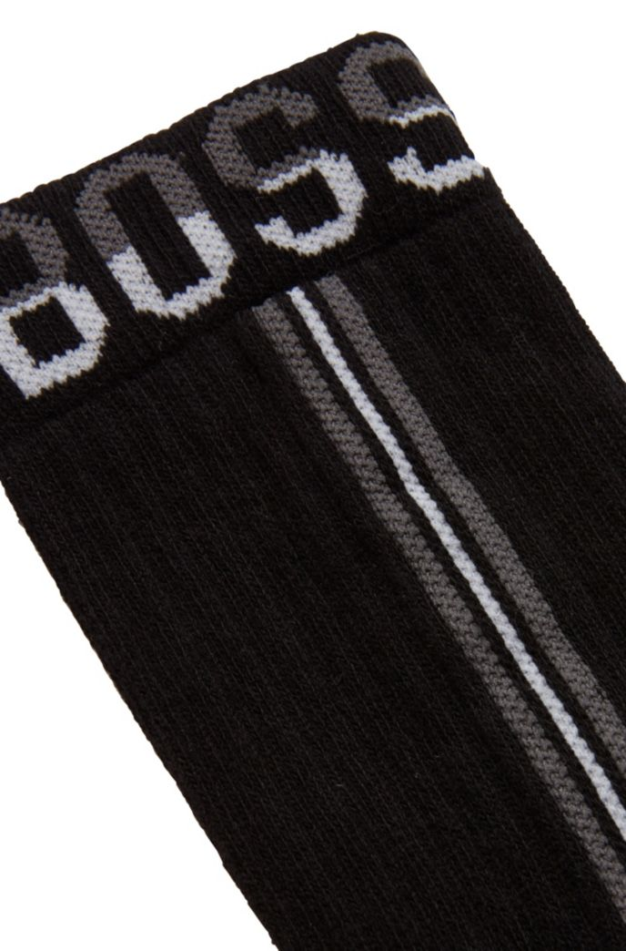 Calze a tre quarti in misto cotone con righe verticali