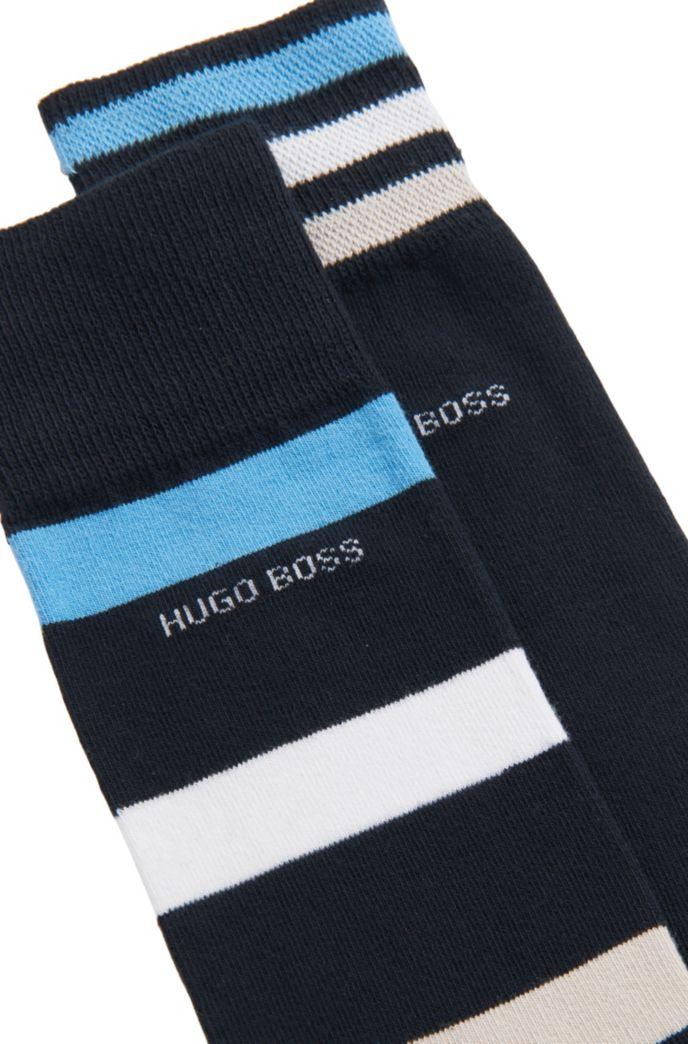 Two-pack of regular-length socks with stripes