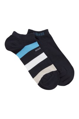 Two-pack of ankle socks in a combed-cotton blend, Dark Blue