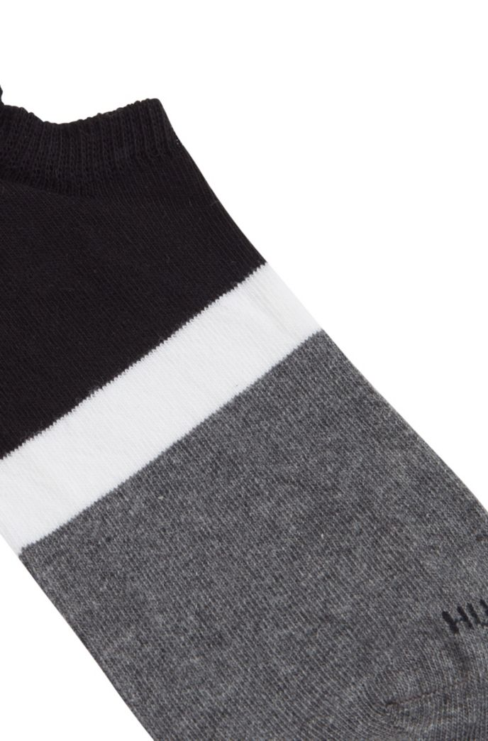 Chaussettes invisibles à rayures color block