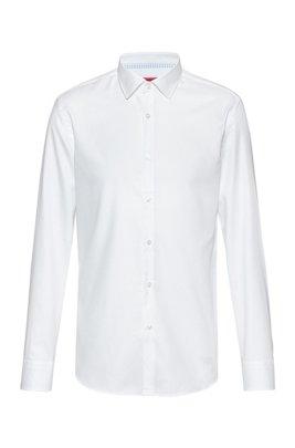 Chemise Slim Fit en coton Oxford facile à repasser, Blanc