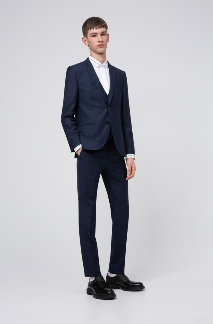 Camicia extra slim fit in cotone con riga a contrasto