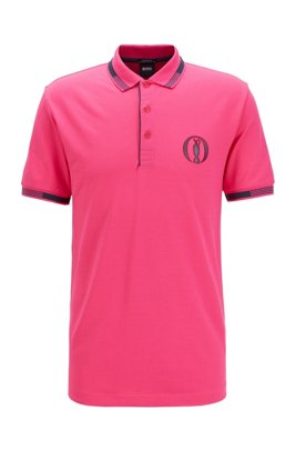 Exclusieve The Open-polo met S.Café®, Pink