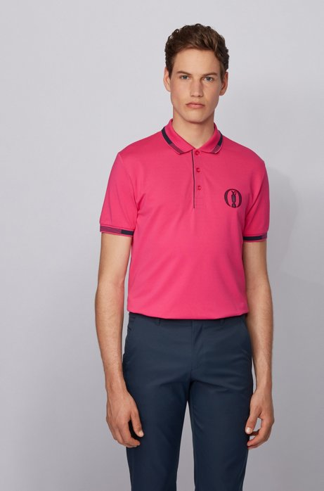 The Open exclusive polo shirt with S.Café®, Pink