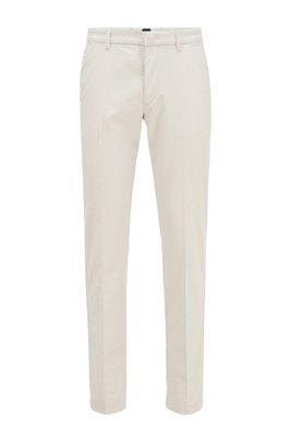 Slim-Fit Chino aus elastischem Baumwoll-Mix, Weiß