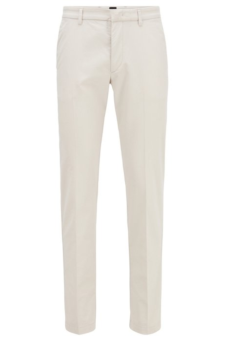 Slim-fit chinos in a stretch-cotton blend, Natural