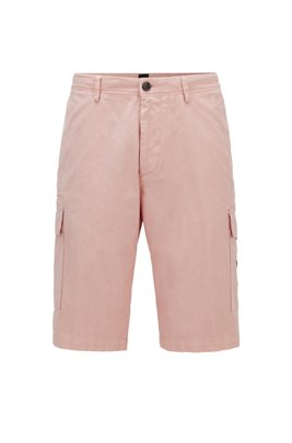 Cargo shorts in stretch cotton, light pink