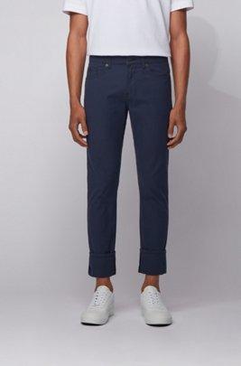 Slim-fit jeans in structured stretch denim , Dark Blue