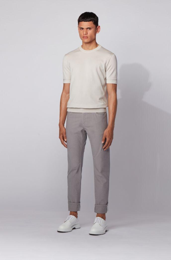 Regular-fit jeans in structured stretch denim