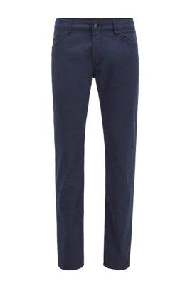 Regular-fit jeans in structured stretch denim, Dark Blue