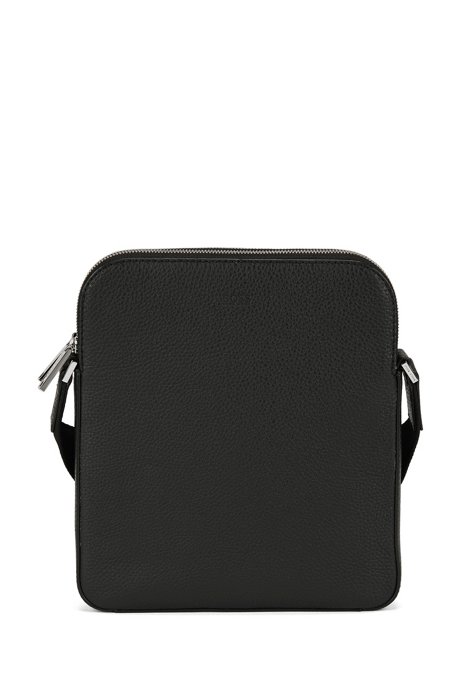 Envelope bag in grained Italian leather, Black