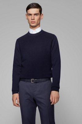 Pullover aus Baumwolle mit Kaschmir-Anteil, Dunkelblau