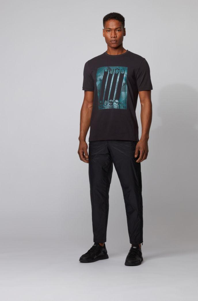 T-shirt en coton stretch avec logo imprimé graphique