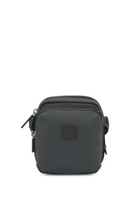 Reporter bag in matte faux leather, Black