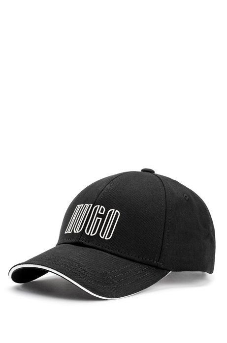 Cotton-twill cap with new-season logo embroidery, Black