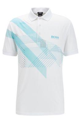 Hugo Boss Polo Shirts Ferrara Modern Essential Size Comfort Fit Pique L White