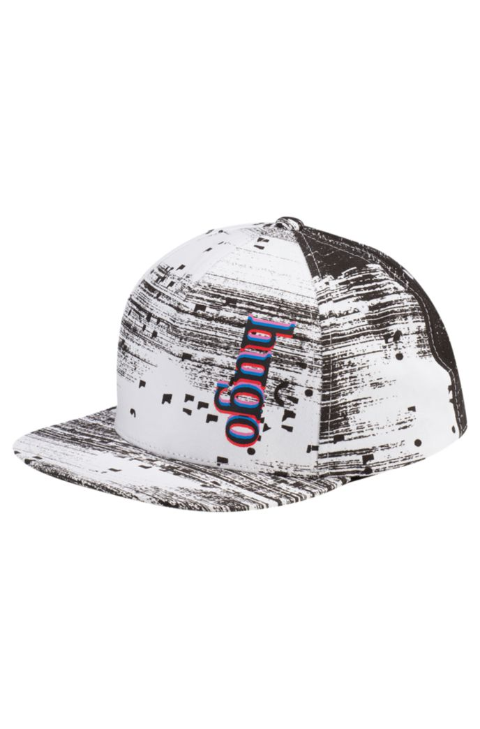 Graphic-print cap in cotton twill