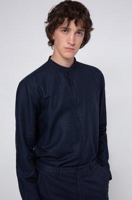 Relaxed-Fit Hemd mit Garment-Waschung, Dunkelblau