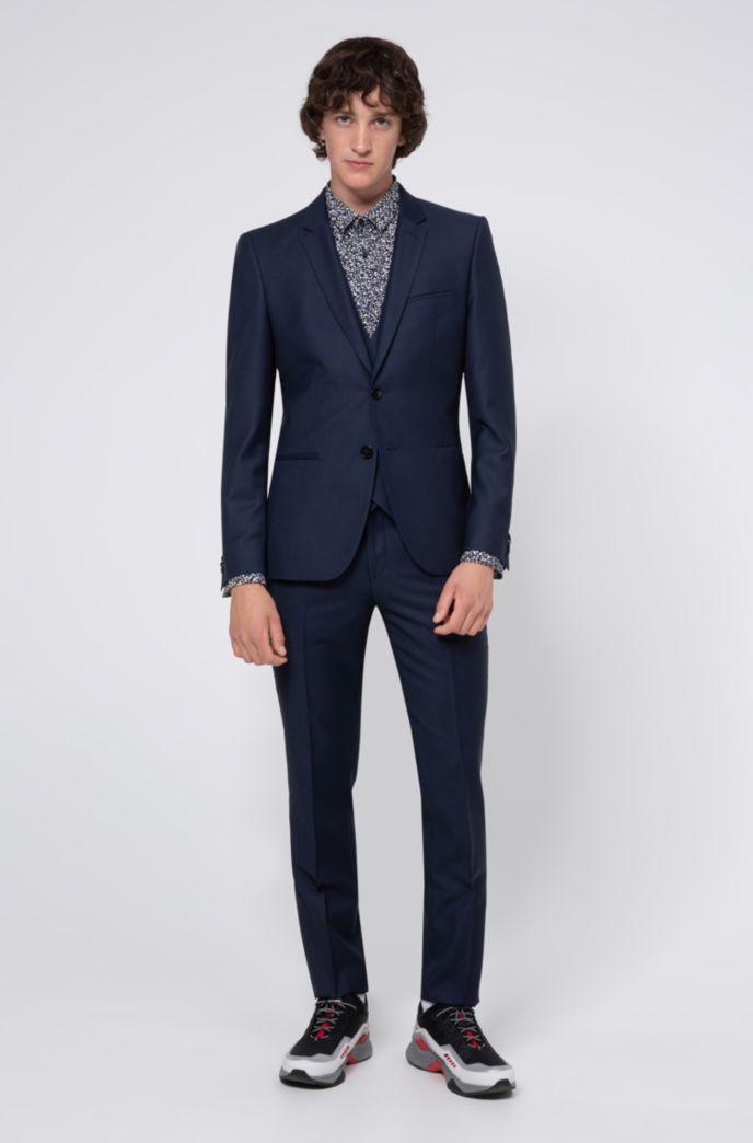 Extra Slim-Fit Hemd aus Baumwolle mit Allover-Print