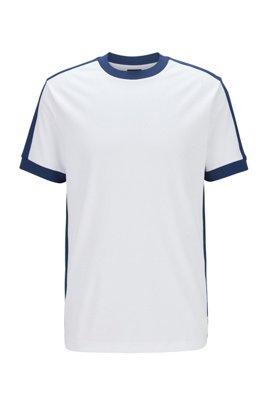 T-shirt Regular Fit à rayures color block , Blanc