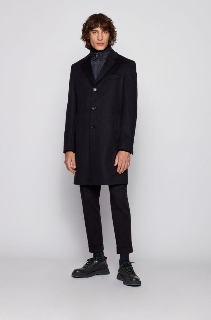 Zip-through sweatshirt with detachable hood