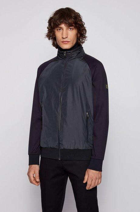 Zip-through sweatshirt with detachable hood, Dark Blue