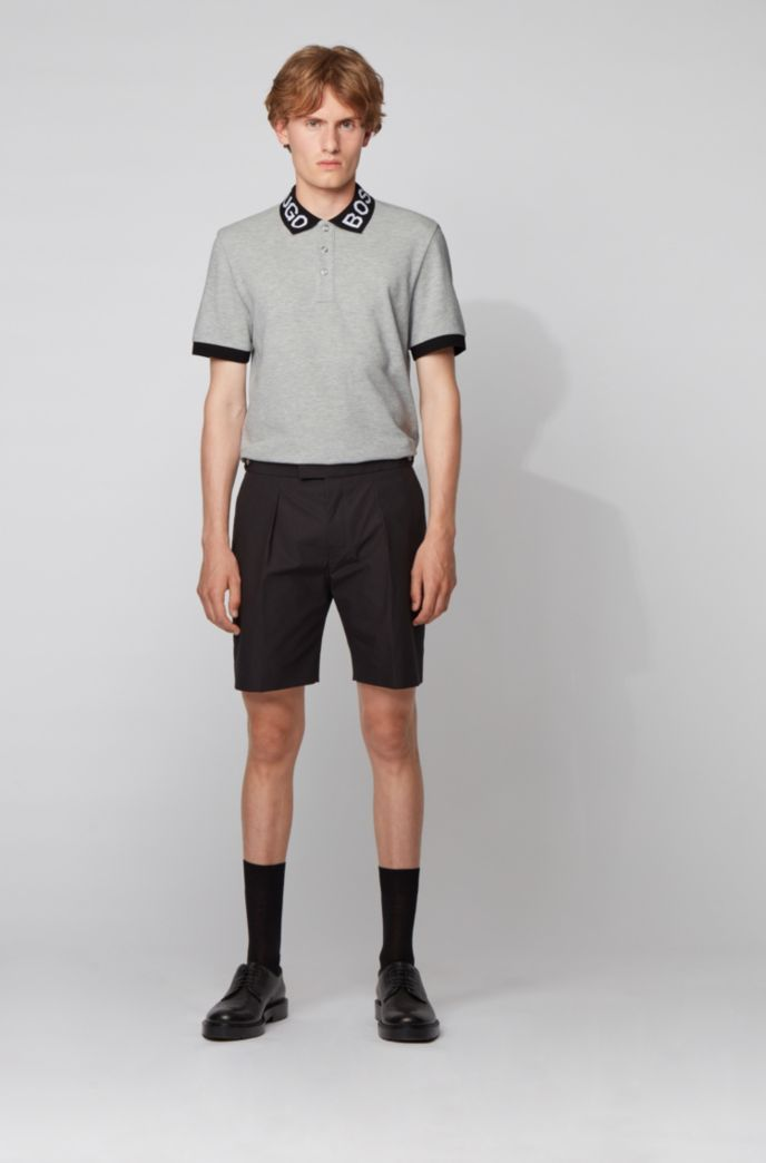 Regular-fit polo met logokraag